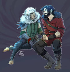 Hawke and Fenris by MonsieArts