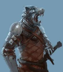 Wolf's head by peterputty