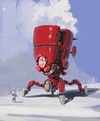 Red Crawler by peterputty