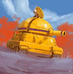 Yellow Tank by peterputty