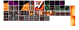 Megaman Fangame Resources: Improved Fire Man Tiles by Bongwater-bandit