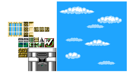 Megaman Fangame Resources: Improved Cut Man Tiles by Bongwater-bandit