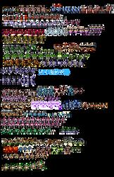 Mega Man V Enemies, NES style by Bongwater-bandit