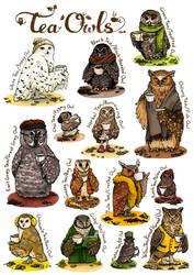 661-Tea Owls by Alia-Moosvi
