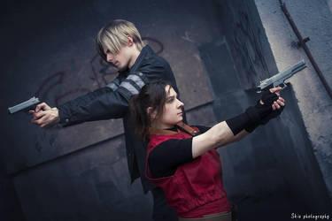 Leon and Claire - Stay on guard by bossi-nassatko