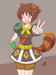 Little Tanuki Sister by superdes513