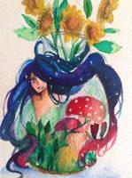 Flower Spirit by Arkarukii