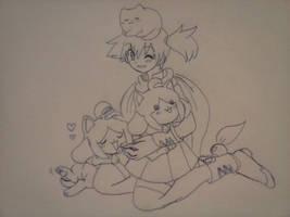 Snuggle buddies by Loveponies89