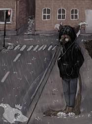 Rainy Days (+Speedpaint) by LittleLightFromDark