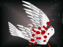 bloody dove by KuroSuzuNeko