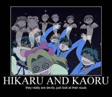 Hikaru and Kaoru by bakura108