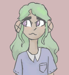 green haired kiddo by TheOrignalFangirl