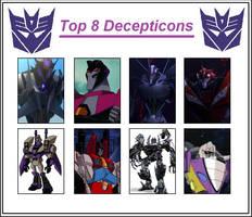 Top 8 Decepticons by Autopunk