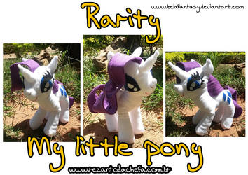 Rarity plush - my little pony by belafantasy