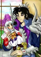 Naraku and Sesshy plushie by belafantasy