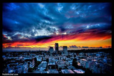 Sunset,  Santa Monica - HDR by naikmichel