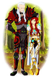 Vaelethian and Aelynith by Azareea