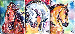 Bronze, Silver, Gold | ACEO set by silverybeast