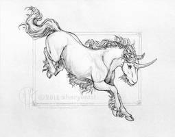 unicorn by silverybeast
