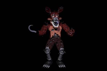 Nightmare Foxy 4.5 Update  By: ThrPuppet by HyperRui37