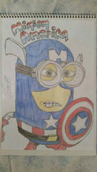 love the minions+marvel  by Vila78