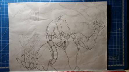 Shoto Todoroki Fan Art Sketch by Vila78