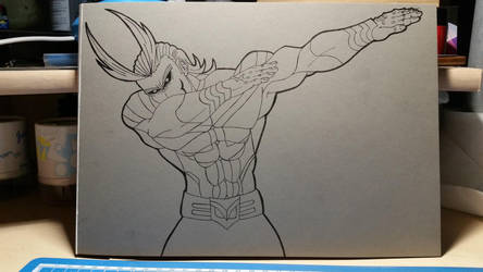 All Might Fan Art #Stage II by Vila78