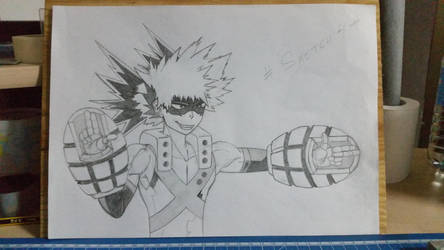 Bakugou Katsuki Fan Art # Sketch 4# by Vila78
