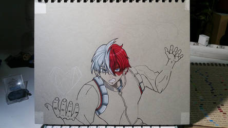 Soto Todoroki Fan Art WIP 2 by Vila78