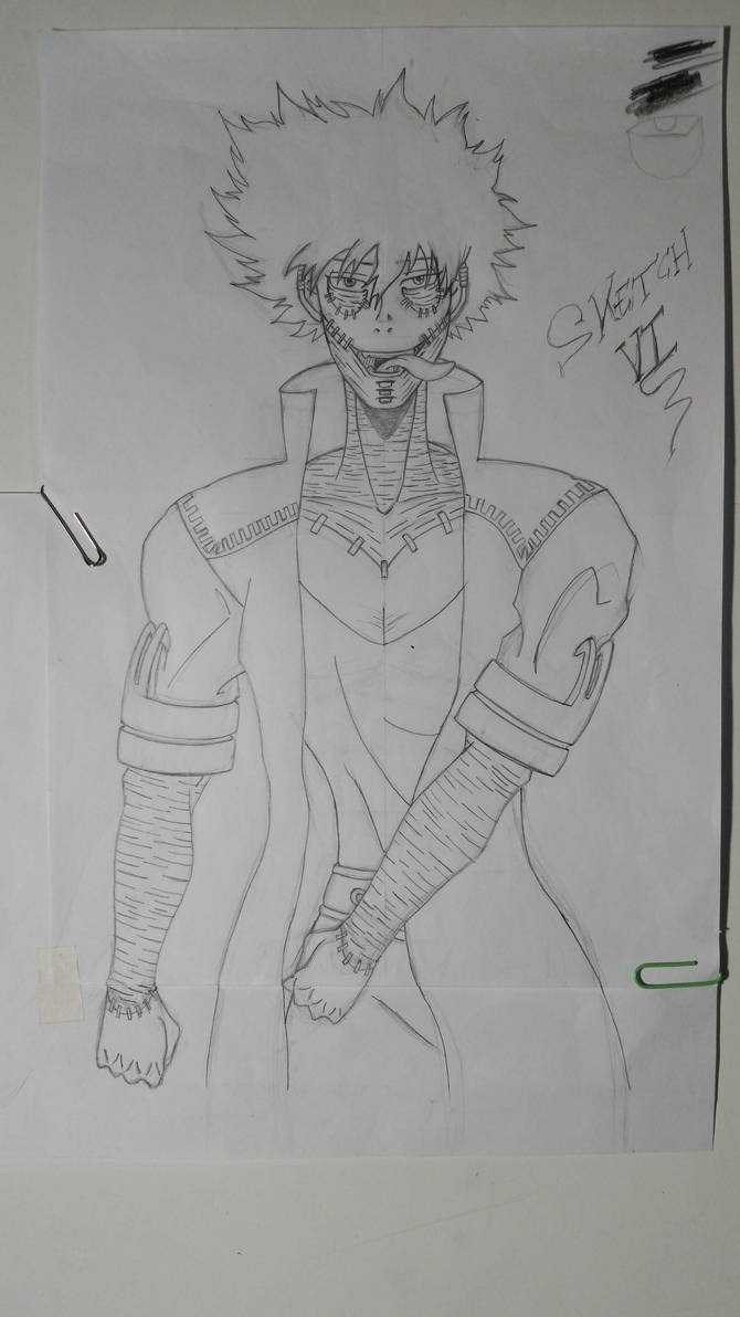 Dabi Fan Art Sketch MHA by Vila78