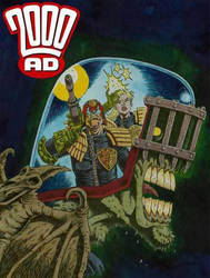 2000ad Judge Dredd / Judge Anderson / Judge Death by Rufus-Dayglo