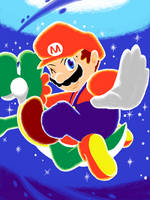 Super Mario Galaxy 2 by amito