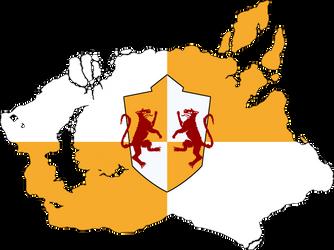 Flag Map of the Kingdom of Ferelden (Dragon Age) by ScarlettRose93