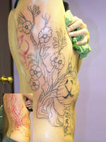 Cherry tree with lamp linework by takkless