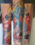 Smurfette Tattoo by takkless
