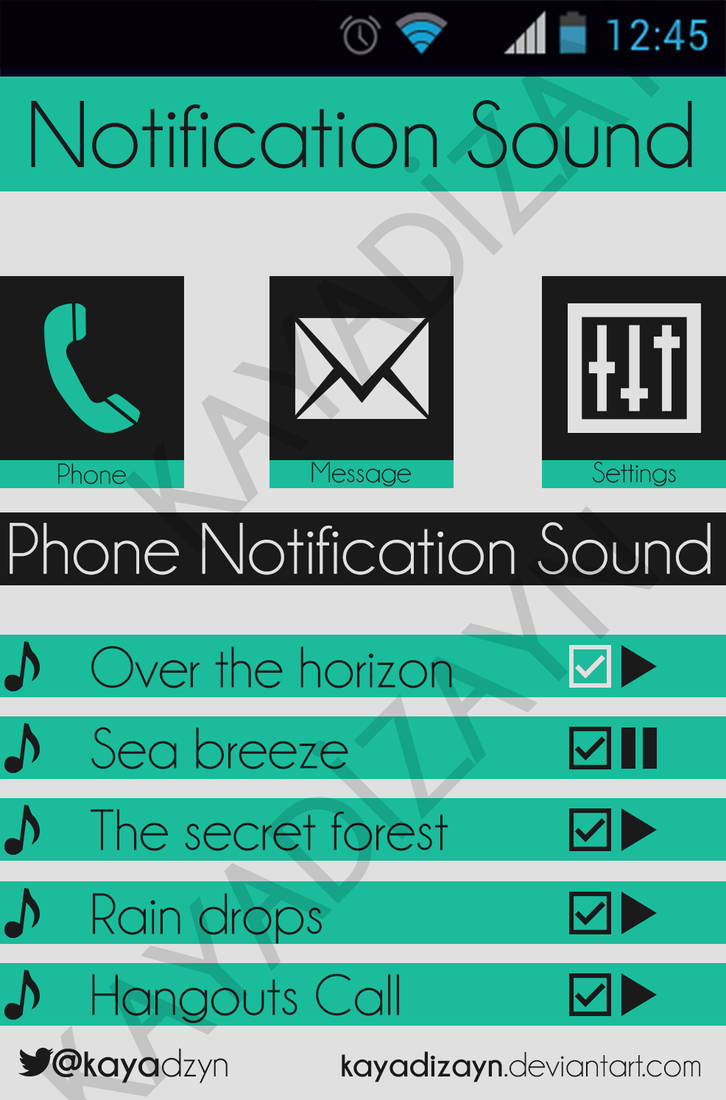Android Notification Sound App  Theme (exsample) by kayadizayn on
