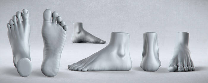 Male Anatomy Studies - Foot by PixelPirate
