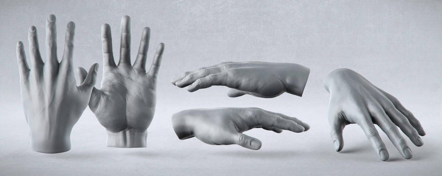 Male Anatomy Studies - Hand by PixelPirate