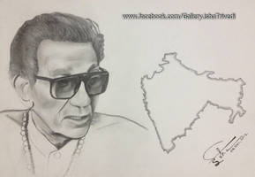 Balasaheb Thackeray sketched by Isha Trivedi by trivediisha