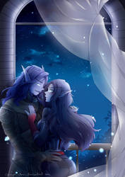 Under the Night Sky by annJu-chan