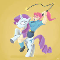 Rarity and Alice by DocWario