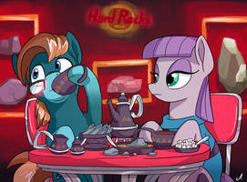 Commission - Tea at the Hard Rocks Cafe by DocWario
