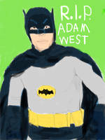 1966 Batman (R.I.P. Adam West) by homer311