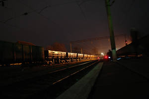 between two trains by MaryONE22