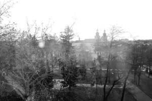 Lviv, park, morning by MaryONE22