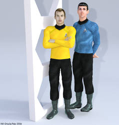 Kirk and Spock Star Trek XI 2009 by nvoracle