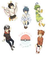 mini pokemon gijinka by nilampwns