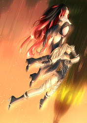 Gravity Rush Fan Art Kat and Raven by stejaywild