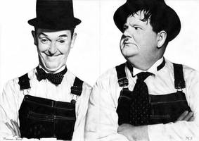 Laurel and Hardy (Stanlio e Ollio) [scan drawings] by DesignerMF