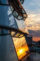 Sunset at Reichtstagskuppel Berlin by FreSch85